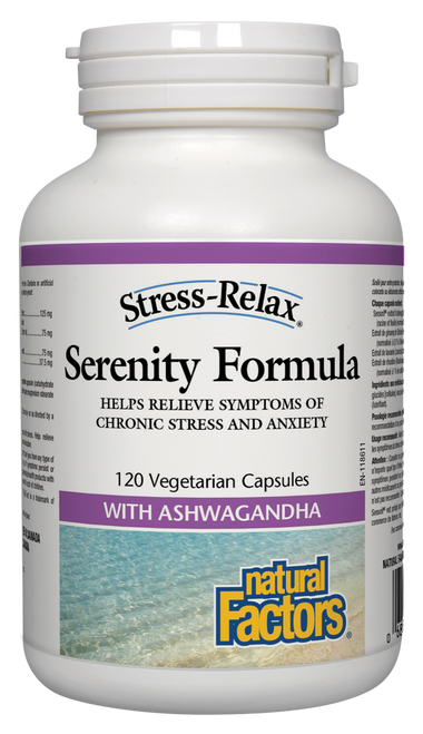 Natural Factors: Stress-Relax Serenity Formula (120 Vegetarian Capsules)