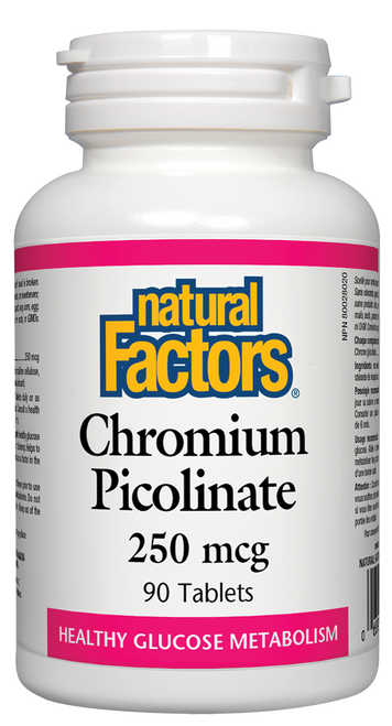 Natural Factors: Chromium Picolinate (250Mcg) (90 Tablets)