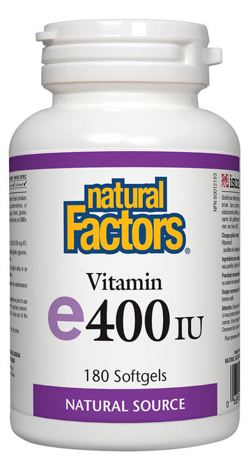 Natural Factors: Vitamin E (400iu) (180 SoftGels)