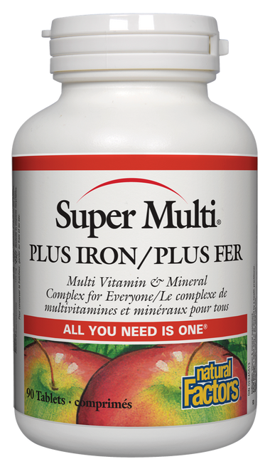 Natural Factors: Super Multi Plus Iron (90 Tablets)