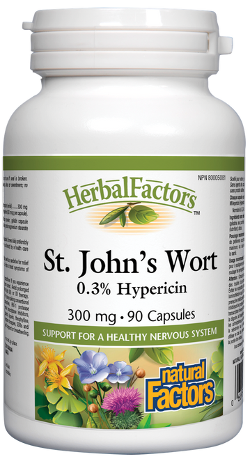 Natural Factors: St. John's Wort Extract (300mg) (90 Capsules)