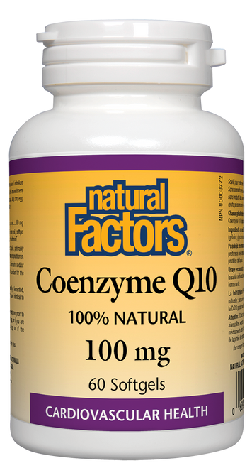 Natural Factors: CoQ10 (100mg) (60 SoftGels)