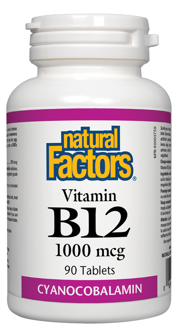 Natural Factors: B12 (1000mcg) (90 Tablets)
