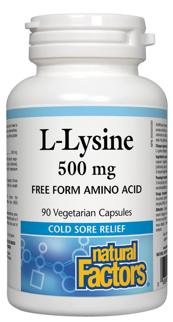 Natural Factors: L-Lysine (500mg) (90 Vegetarian Capsules)