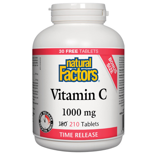Natural Factors: Vitamin C (1000mg) Timed-Release BONUS (210 Tablets)