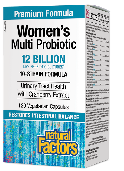 Natural Factors: Women's Multi Probiotic (120 Vegetarian Capsules)