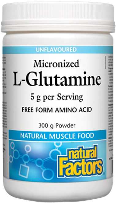 Natural Factors: Micronized L-Glutamine - Unflavoured (300g)