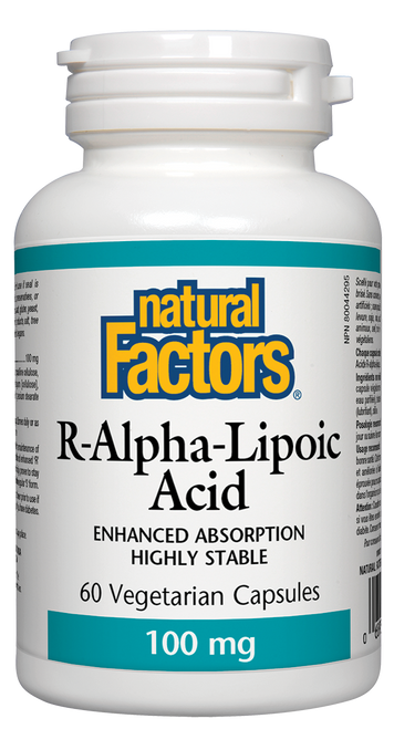 Natural Factors: R-Lipoic Acid (100mg) (60 Vegetarian Capsules)
