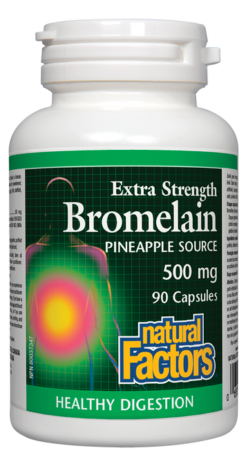 Natural Factors: Extra Strength Bromelain (Pineapple Source) (500mg) (90 Capsules)