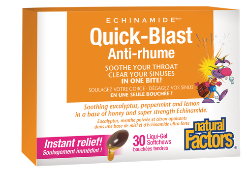 Natural Factors: Echinamide Quick-Blast (30 Liquid-Gel Softchews)