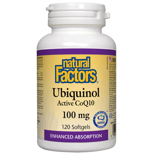 Natural Factors: Ubiquinol Active CoQ10 (100mg) (120 SoftGels)