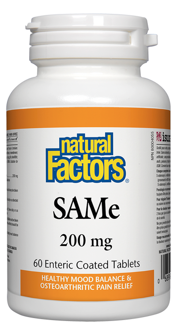 Natural Factors: SAMe (200mg) (60 Enteric Coated Tablets)