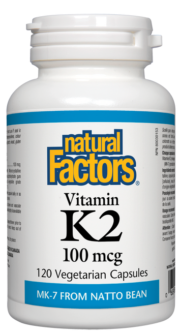 Natural Factors: Vitamin K2 (100Mcg) (120 Vegetarian Capsules)