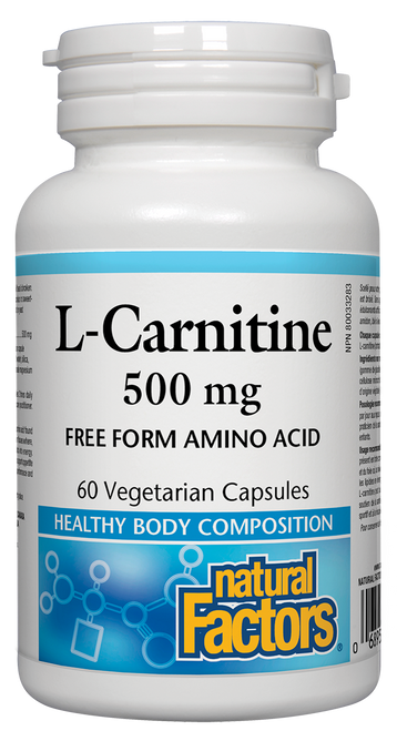Natural Factors: L-Carnitine (500mg) (60 Vegetarian Capsules)