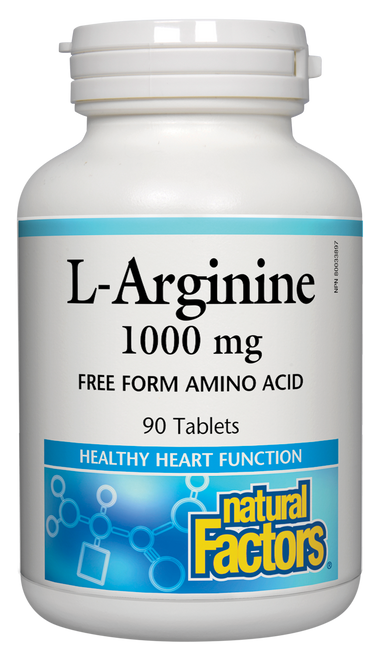 Natural Factors: L-Arginine (1000mg) (90 Tablets)