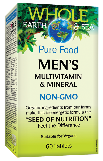 Whole Earth & Sea: Men's Multivitamin & Mineral (60 Tablets)