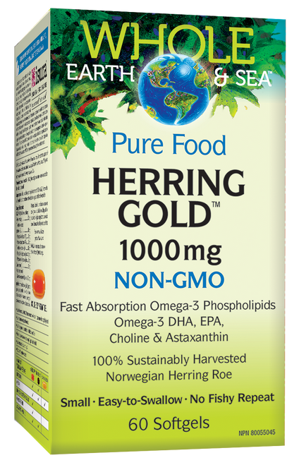 Whole Earth & Sea: Herring Gold (1000mg) (60 Softgels)
