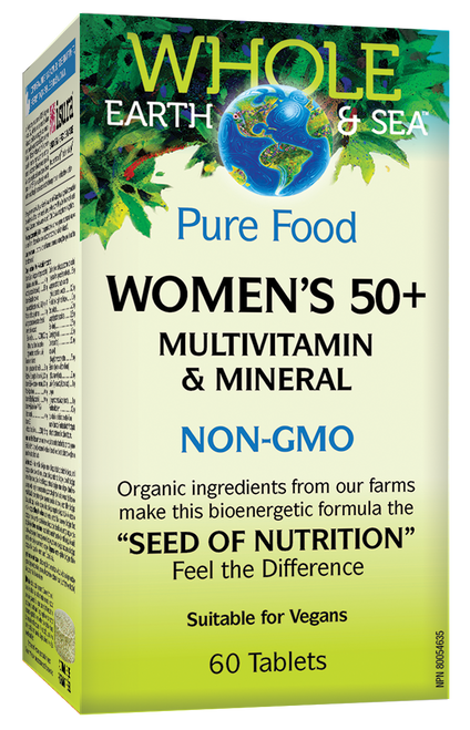 Whole Earth & Sea: Women's 50+ Multivitamin & Mineral (60 Tablets)
