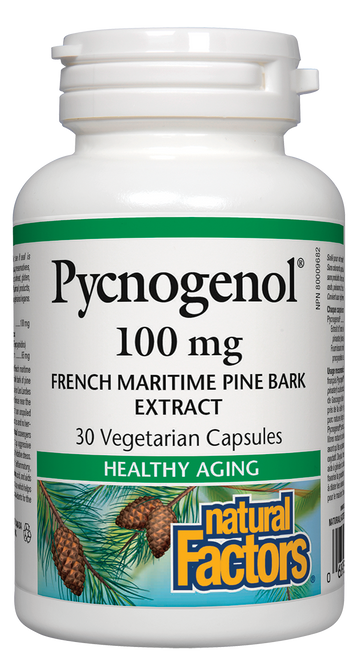 Natural Factors: Pycnogenol (100mg) (30 Vegetarian Capsules)