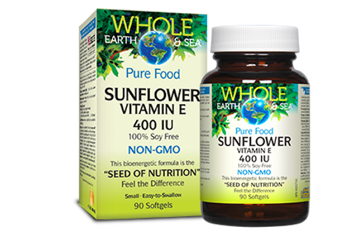 Whole Earth & Sea: Sunflower Vitamin E (400iu) Non-GMO (90 Soft Gels)