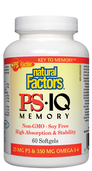 Natural Factors: PS IQ Memory (60 Softgels)