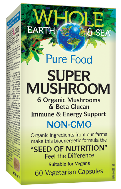 Natural Factors: Whole Earth & Sea Super Mushroom (60 Vegetarian Capsules)