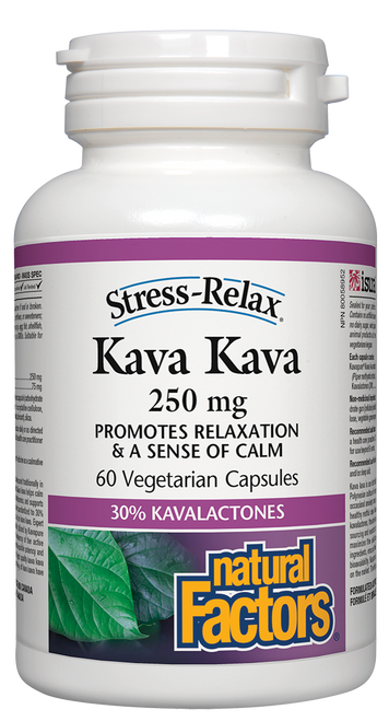 Natural Factors: Kava Kava (250mg) (60 Vegetarian Capsules)