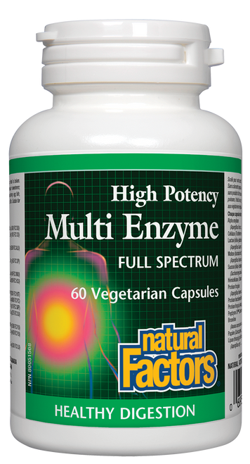 Natural Factors: High Potency Multi Enzyme (60 Vegetarian Capsules)
