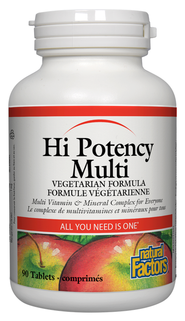 Natural Factors: High Potency Multi (90 Tablets)