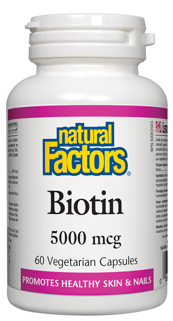Natural Factors: Biotin (5000mcg) (60 Vegetarian Capsules)