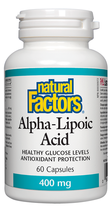 Natural Factors: Alpha Lipoic Acid (400mg) (60 Capsules)