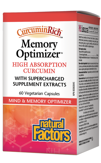 Natural Factors: CurcuminRich Memory Optimizer (60 Vegetarian Capsules)