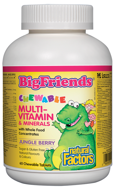 Natural Factors: Big Friends Chewable Multi (60 Chewable Tablets)