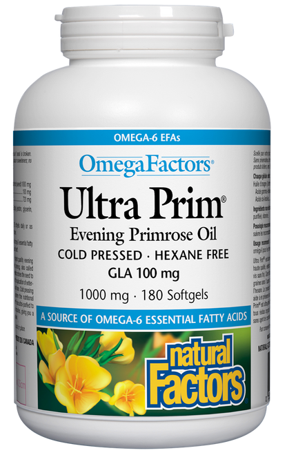 Natural Factors: Ultra Prim Evening Primrose (1000mg) (180 Softgels)