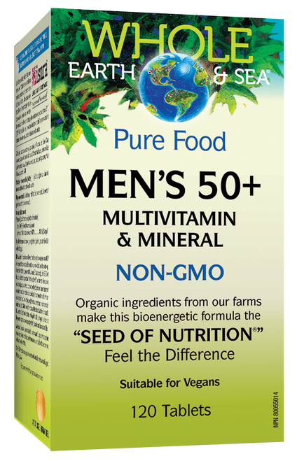 Whole Earth & Sea: Men's 50+ Multivitamin & Mineral (120 Tablets)