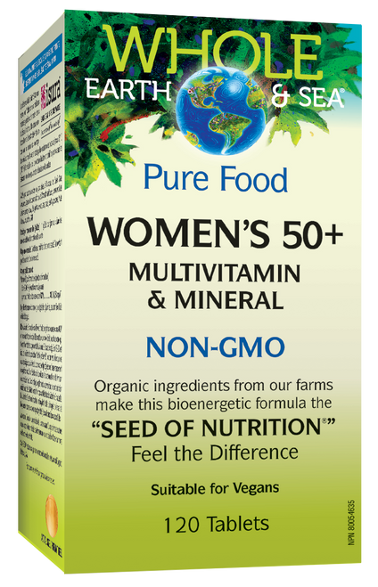 Whole Earth & Sea: Women's 50+ Multivitamin & Mineral (120 Tablets)