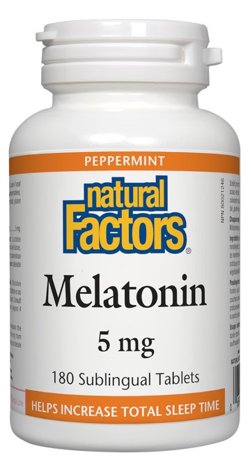 Natural Factors: Melatonin (5mg) (180 Sublingual Tablets)