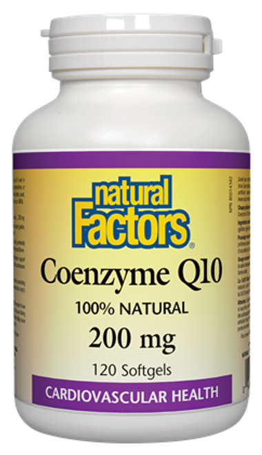 Natural Factors: Coenzyme Q10 (200mg) (120 Softgels)