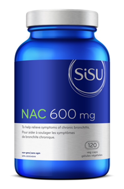 Sisu: N-Acetyl-L-Cysteine (600mg) (120 Vegetable Capsules)