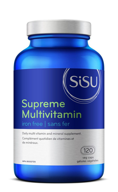 Sisu: Supreme Multivitamin Iron-Free (120 Veg Caps)