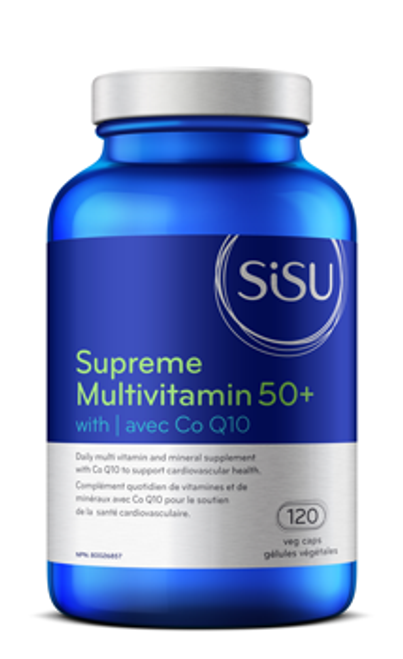 Sisu: Supreme MultiVitamin 50+ With Co Q10 (120 Veg Caps)