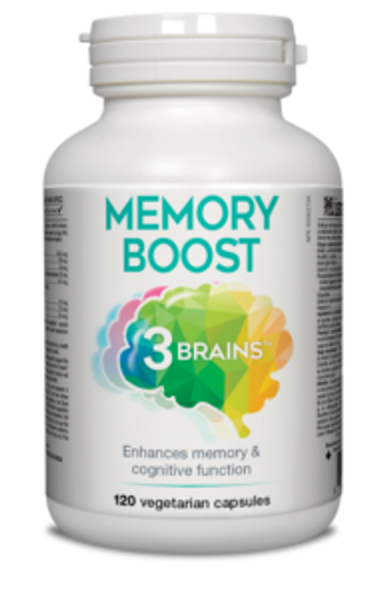 3 Brains: Memory Boost (120 Vegetable Capsules)