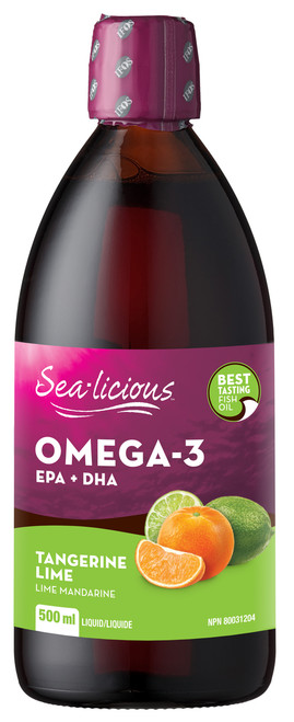 Sea-licious: Omega-3 EPA + DHA - Tangerine Lime (500ml)