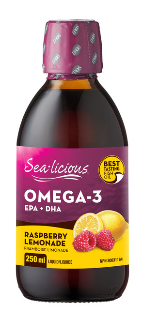 Sea-licious: Omega-3 EPA + DHA - Raspberry Lemonade (250ml)
