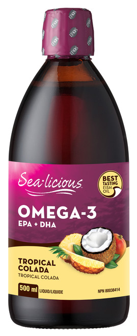 Sea-Licious Omega-3 EPA+DHA Tropical Colada 500ml