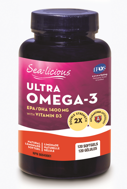 Sealicious Ultra Omega-3 With Vitamin D3 - Natural Lemon Flavour