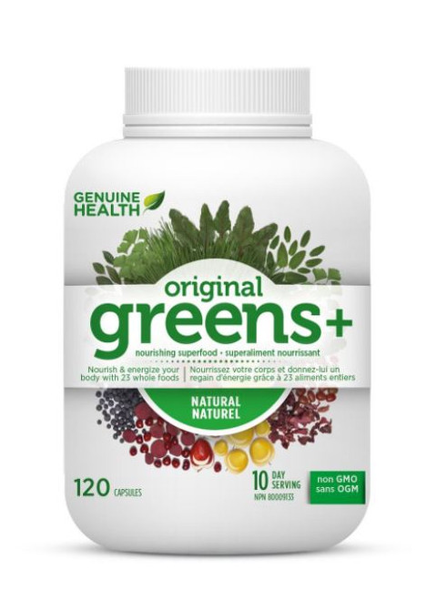Genuine Health Original Greens+ Natural 120 Capsules