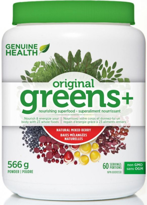 Genuine Health: Greens+ Original - Mixed Berry 566 gm