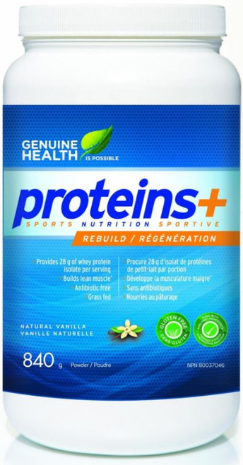 Genuine Health: Whey Proteins+ - Natural Vanilla (840g)