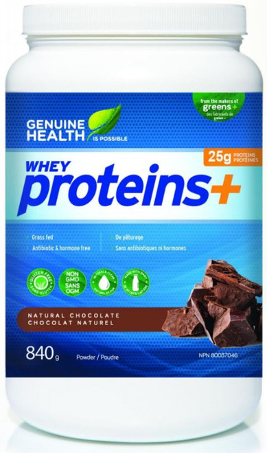 Genuine Health: Whey Proteins+ - Natural Chocolate (840g)